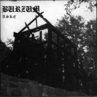 Varg Vikernes - The charred ruins of the Fantoft stave church as seen on Burzum's 1992 EP, Aske.
