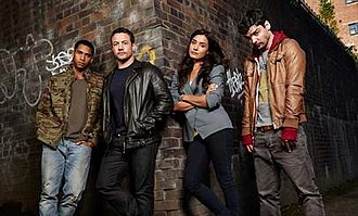 By Any Means (2013 TV series) - Cast of By Any Means – Elliot Knight, Warren Brown, Shelley Conn and Andrew-Lee Potts