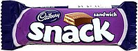 Candy bar in purple-and-black wrapper