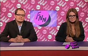 Alan Carr and Mischa Barton during the Friday ...