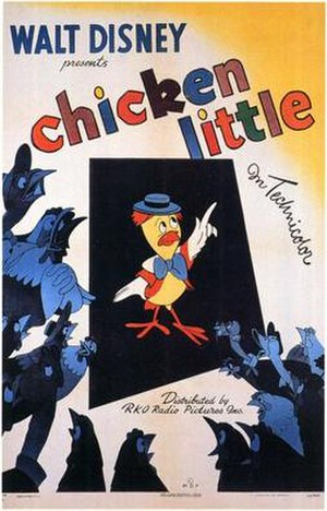 Chicken Little (1943 film) - Theatrical release poster