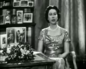 The first televised Christmas Message, broadca...