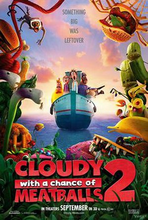 Cloudy with a Chance of Meatballs 2 - Theatrical release poster