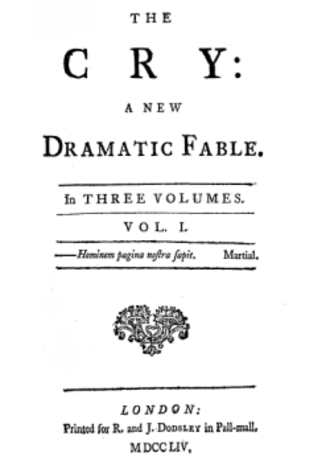The Cry (book) - Title page