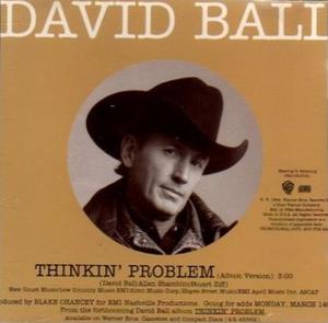 Thinkin' Problem (song) - Image: David Ball Thinkin Problem cd single