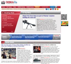 Debkafile - Image: Debkafile screenshot
