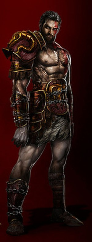 God of War: Ghost of Sparta - Artwork of Kratos' brother Deimos.