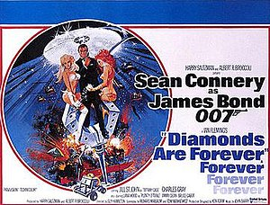 Diamonds Are Forever (film) - British cinema poster for Diamonds Are Forever, designed by Robert McGinnis