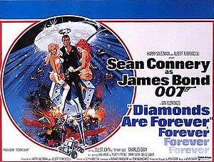 Diamonds Are Forever (film) - British cinema poster for Diamonds Are Forever, designed by Robert McGinnis