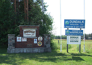 Southgate, Ontario - Dundalk welcome sign.