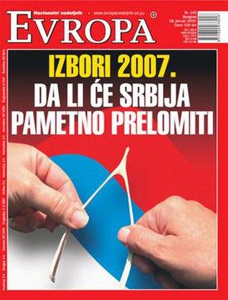 Evropa (magazine) - Image: Evropa 145