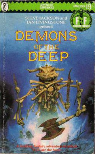Demons of the Deep - The original Puffin Books cover of Demons of the Deep