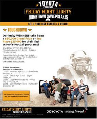 Friday Night Lights (TV series) - Promotional website with Toyota.