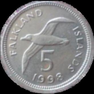 Falkland Islands pound - Image: Falkland 5 pence