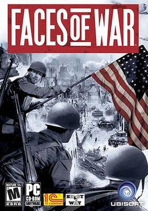 Faces of War - Face of War cover art. European and Russian versions of the box cover display a Soviet flag instead of an American one.