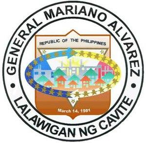 General Mariano Alvarez - Image: GMA, Cavite New Official Seal