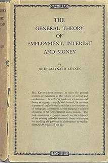 <i>The General Theory of Employment, Interest and Money</i> 1936 book by John Maynard Keynes