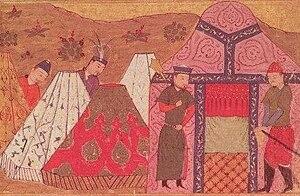 Orda (organization) - Genghis Khan's encampment.