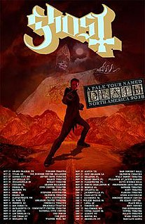 A Pale Tour Named Death tour by the Swedish band Ghost