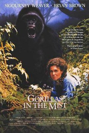 Gorillas in the Mist - Theatrical release poster