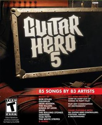 Guitar Hero 5 - Image: Guitar Hero 5 Game Cover