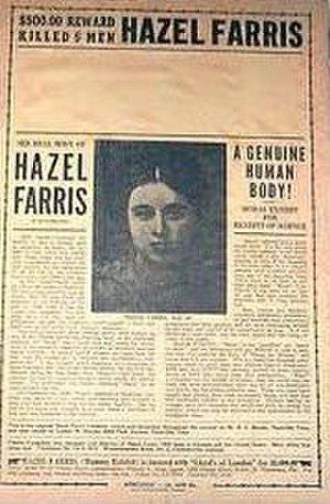 "Hazel Farris - Poster to promote ""Hazel the Mummy"""