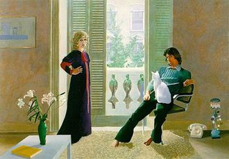 David Hockney - Mr and Mrs Clark and Percy (1970–71), Tate Gallery, London