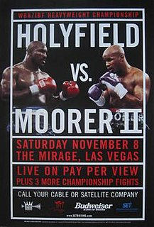 Evander Holyfield vs. Michael Moorer II Boxing competition