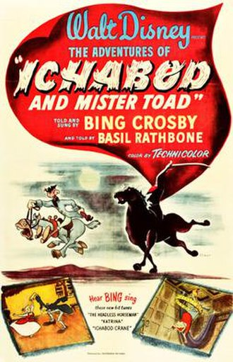 The Adventures of Ichabod and Mr. Toad - Original theatrical release poster
