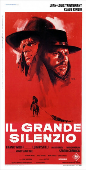 The Great Silence - Italian film poster by Giuliano Nistri