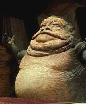 Jabba the Hutt as seen in the film Star Wars E...