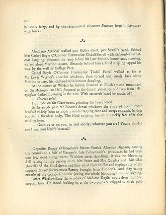 Asterism (typography) - Image: James Joyce, Ulysses, 1ed 2pr, p 240