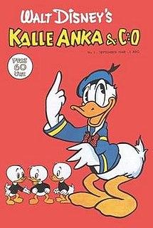 <i>Kalle Anka & C:o</i> Swedish Disney comics magazine launched in 1948
