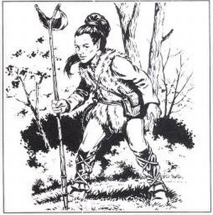 Kender (Dragonlance) - Illustration of a Kender from DL5 Dragons of Mystery, art by Larry Elmore (1985)