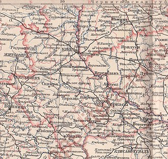 Kiev Governorate - Image: Kievskaya guberniya 1896