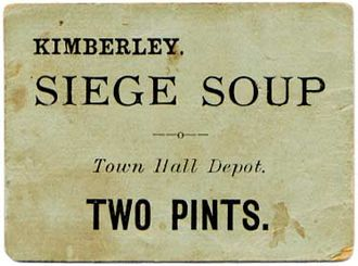 Kimberley, Northern Cape - Soup ration ticket from the Siege of Kimberley