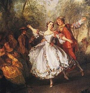 Marie-Anne de Cupis de Camargo - La Camargo Dancing, by Nicolas Lancret, c.1730