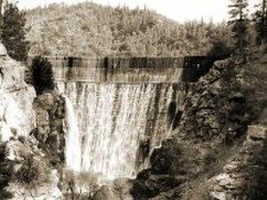 Lake Hemet - Lake Hemet Dam 1895