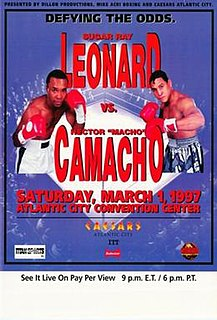 Sugar Ray Leonard vs. Héctor Camacho Boxing match in March 1997