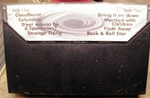 Live Demonstration - Back of an original Live Demonstration cassette