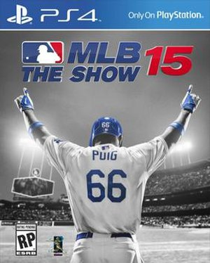 MLB 15: The Show - American cover art featuring Yasiel Puig