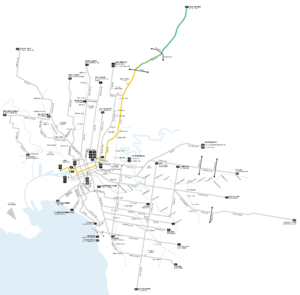 Melbourne tram route 86 - Image: Melbourne trams route 86 map
