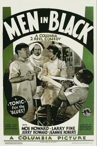 "Men in Black (1934 film) - The Stooges were not professionally known as ""The Three Stooges"" when the film was released as they were billed by their individual names"