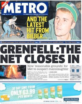 Metro front page1