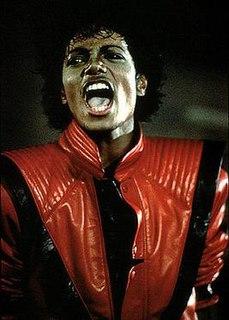 <i>Thriller</i> jacket Jacket worn by Michael Jackson in the Thriller music video