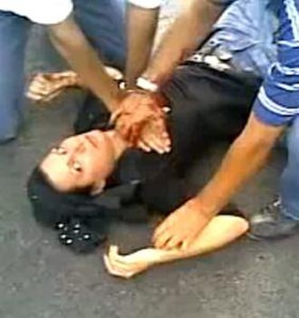 Death of Neda Agha-Soltan - A frame from the video of Agha-Soltān's death by gunfire