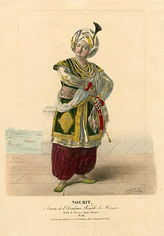 Adolphe Nourrit - Nourrit in the title role of Tarare by Antonio Salieri