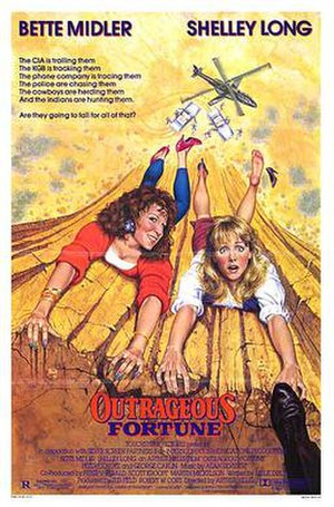 Outrageous Fortune (film) - Theatrical release poster