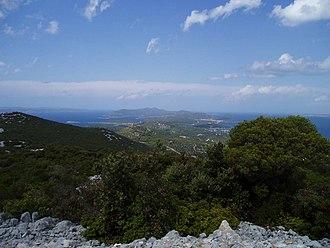 Pašman - View of Pašman and Ugljan from the Bokolj hill view-point