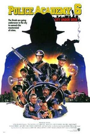 Police Academy 6: City Under Siege - Poster by Drew Struzan